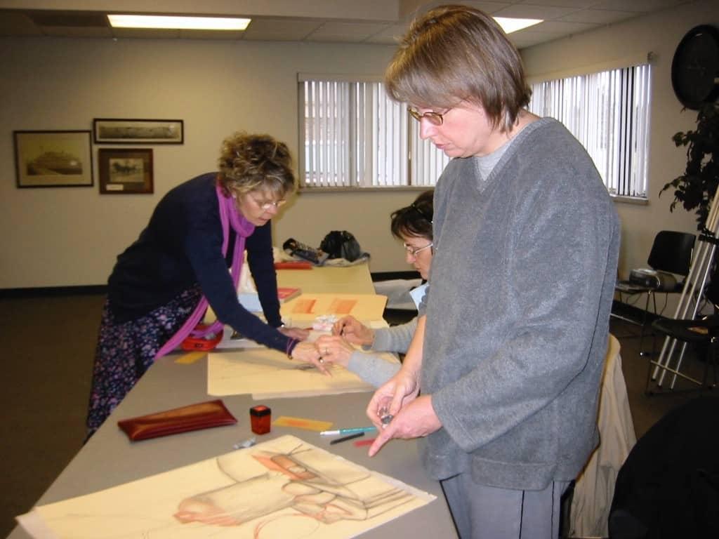 Carol Cline art class